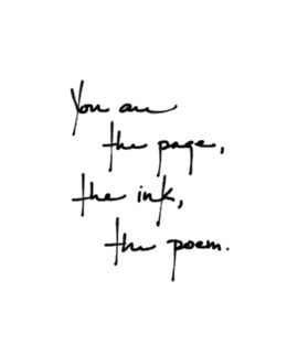 You are the page...