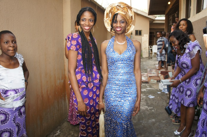 With my sister at her traditional marriage ceremony. Anambra, Nigeria.